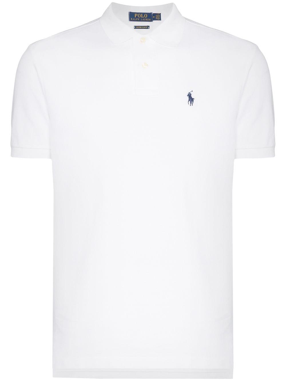Polo Ralph Lauren Poloshirt mit Logo-Stickerei - Weiß
