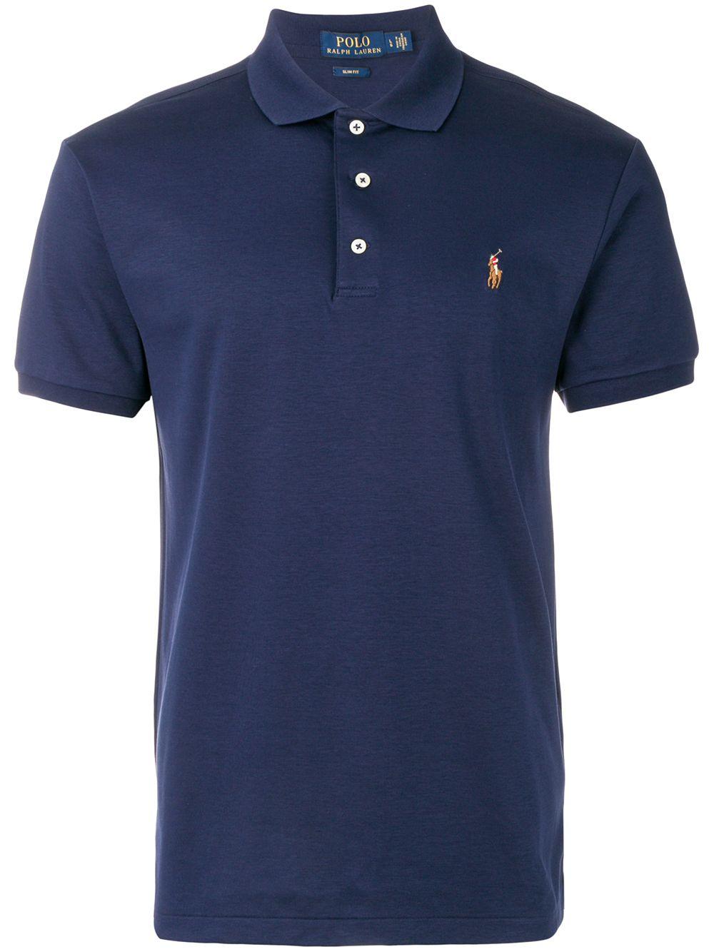 Polo Ralph Lauren Poloshirt mit Stickerei - Blau