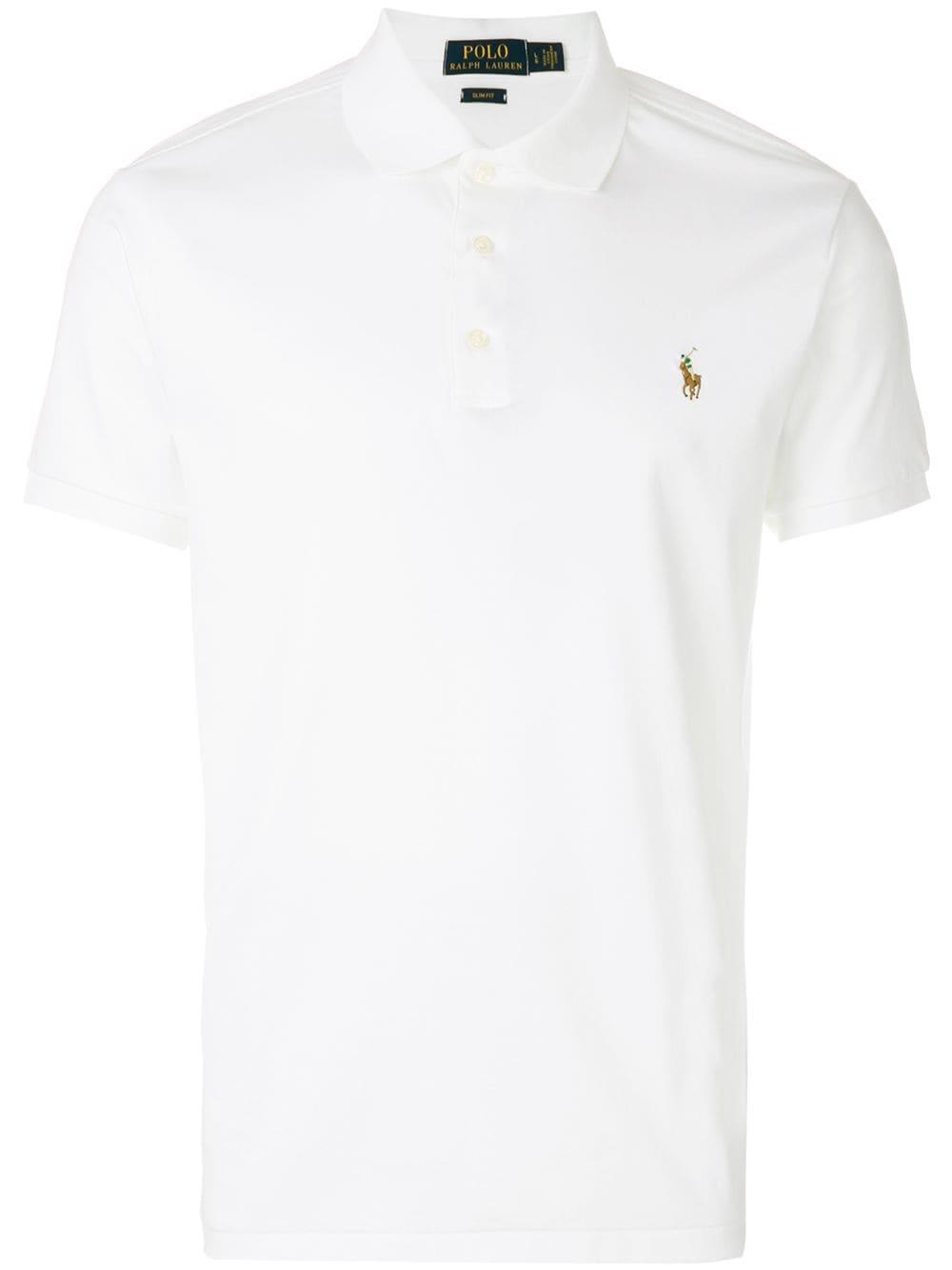 Polo Ralph Lauren Poloshirt mit aufgesticktem Logo - Weiß