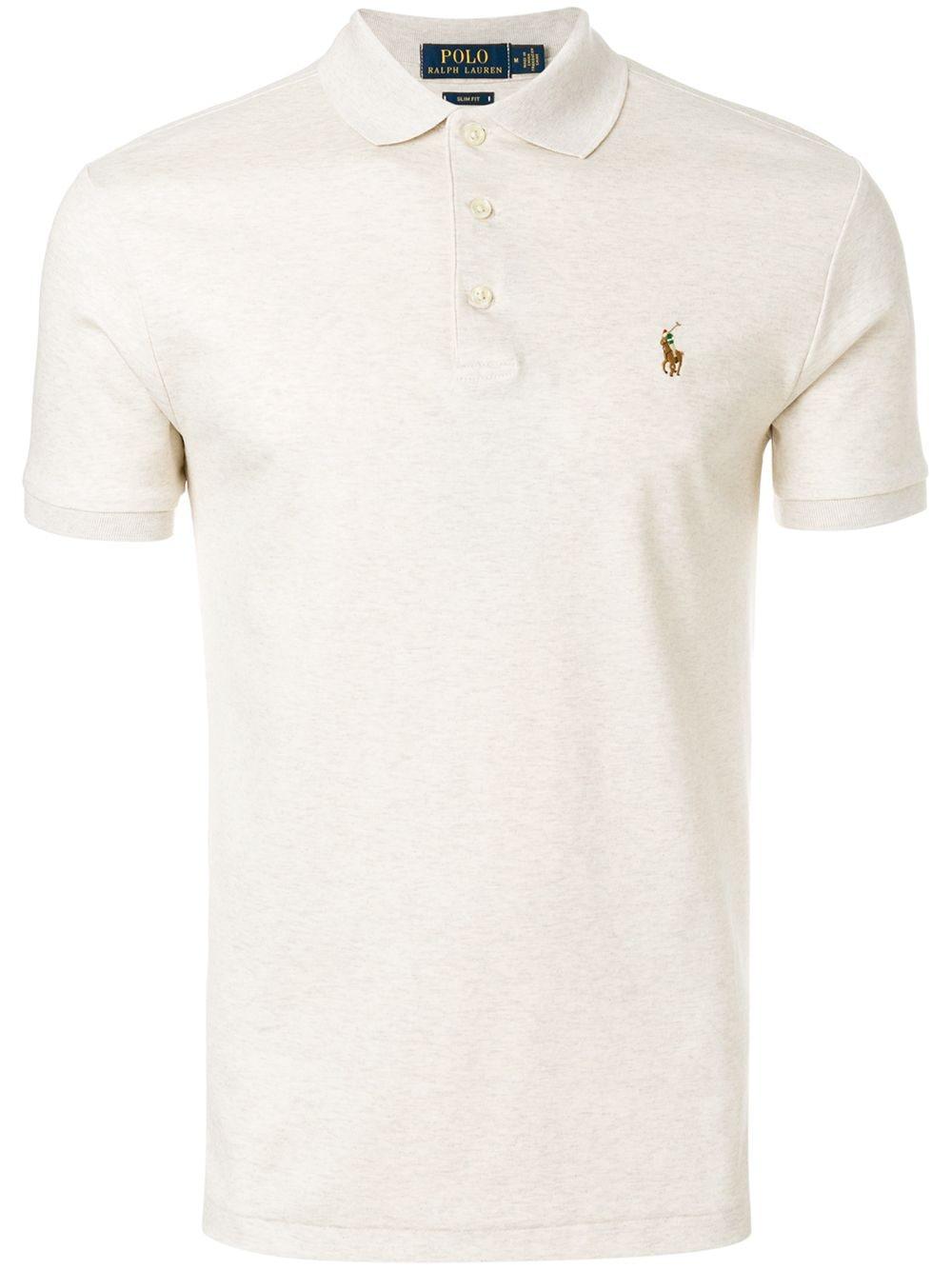 Polo Ralph Lauren 'Soft-touch' Poloshirt - Nude