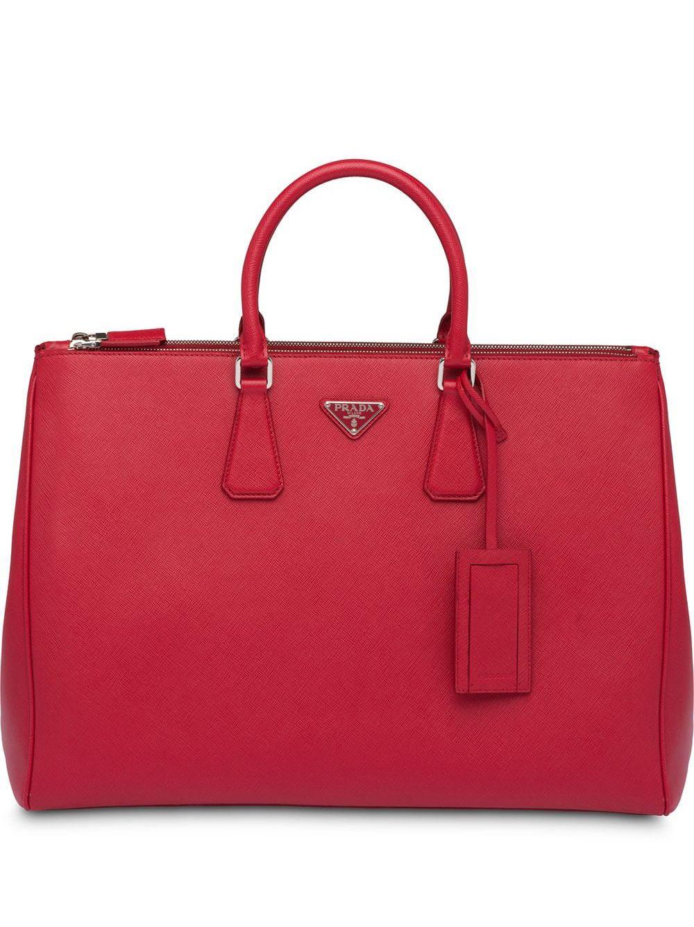 Prada Aktentasche aus Saffiano-Leder - Rot