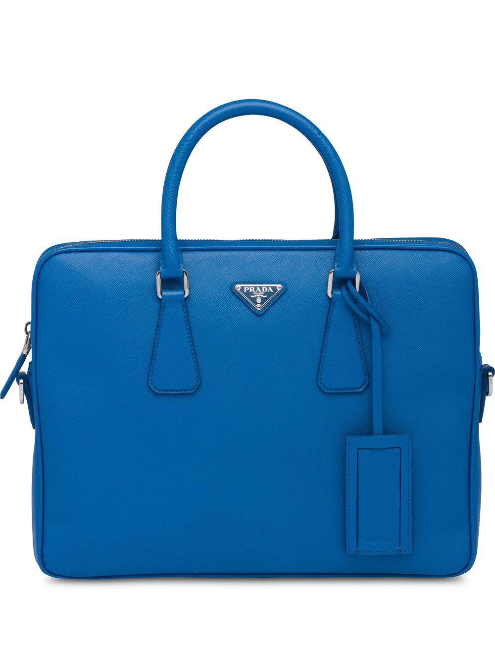 Prada Klassische Aktentasche - Blau