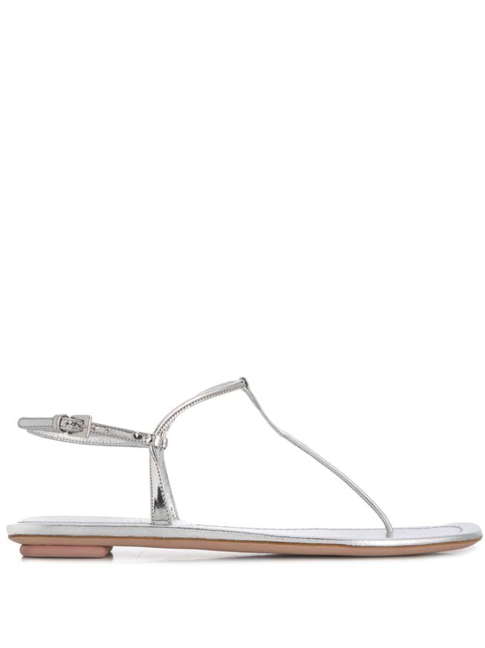 Prada Sandalen mit Steg - Silber