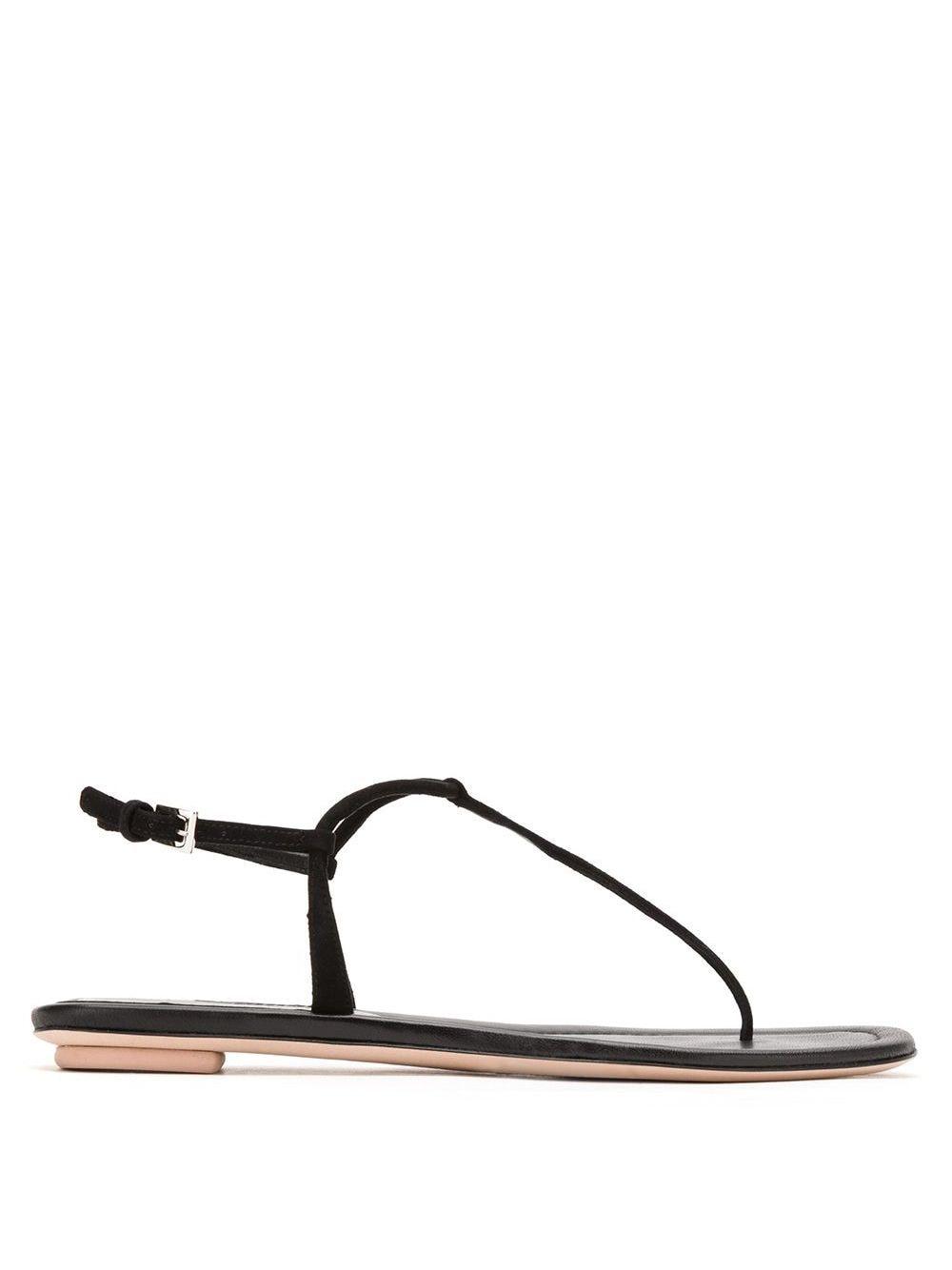 Prada Sandalen mit Zehensteg - Schwarz