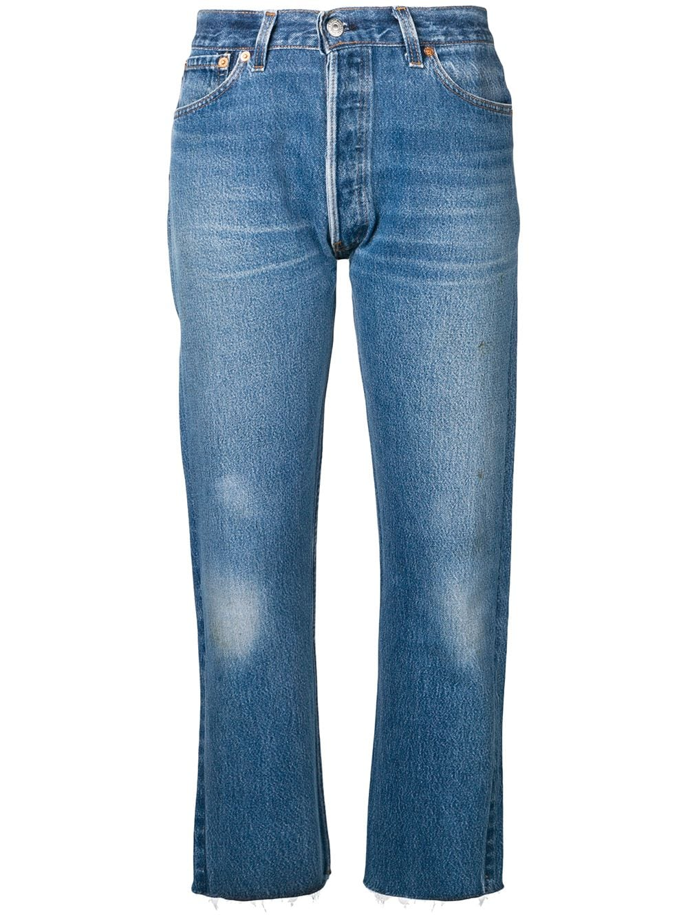 RE/DONE 'Stove Pipe' Jeans - Blau