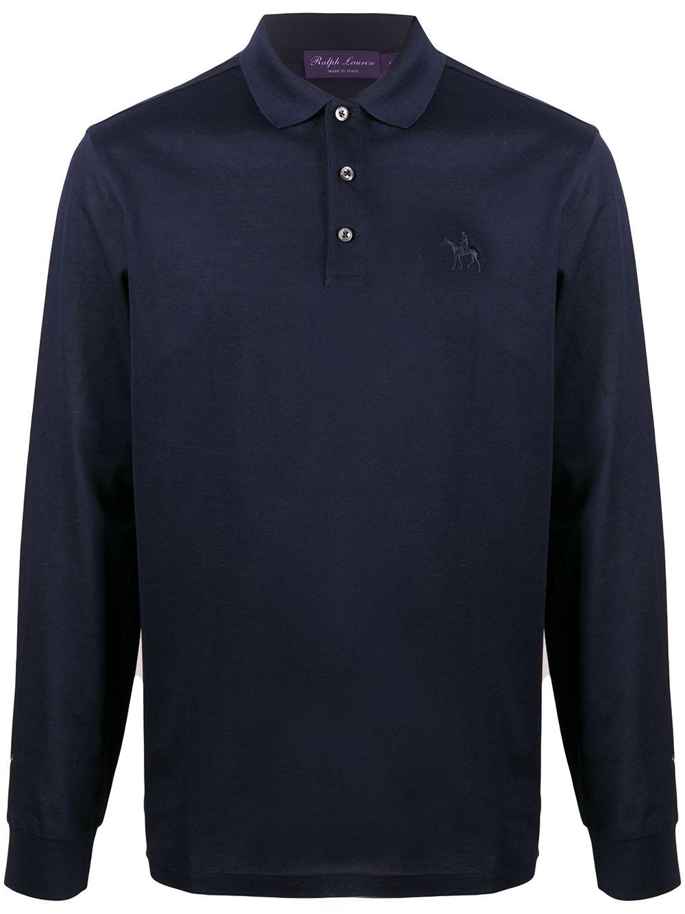 Ralph Lauren Langärmeliges Poloshirt mit Logo - Blau