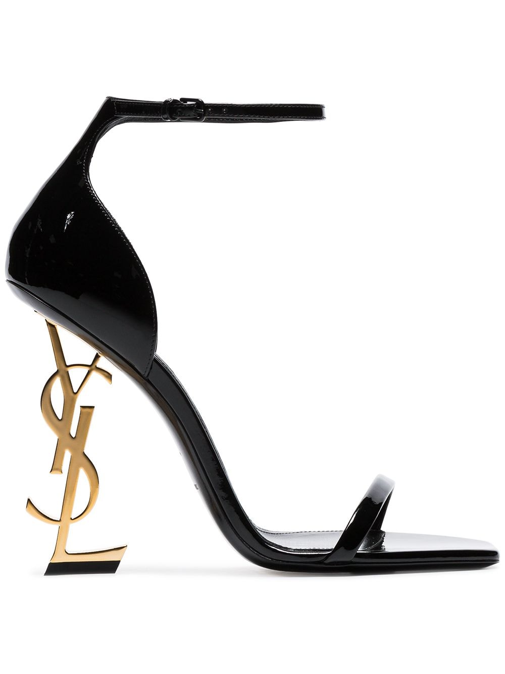 Saint Laurent 'Opyum' 110mm Sandalen - Schwarz