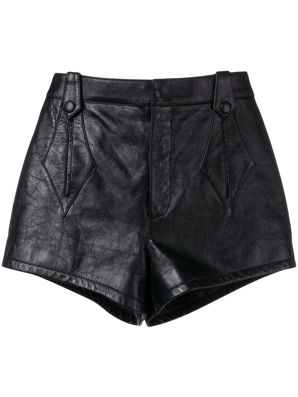 Saint Laurent Shorts mit hohem Bund - Schwarz