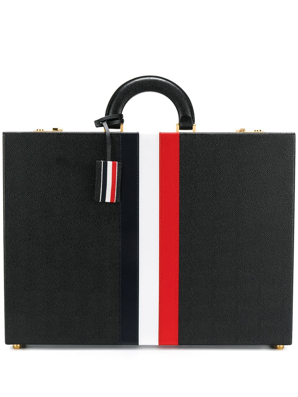 Thom Browne Aktentasche mit Streifen - Schwarz