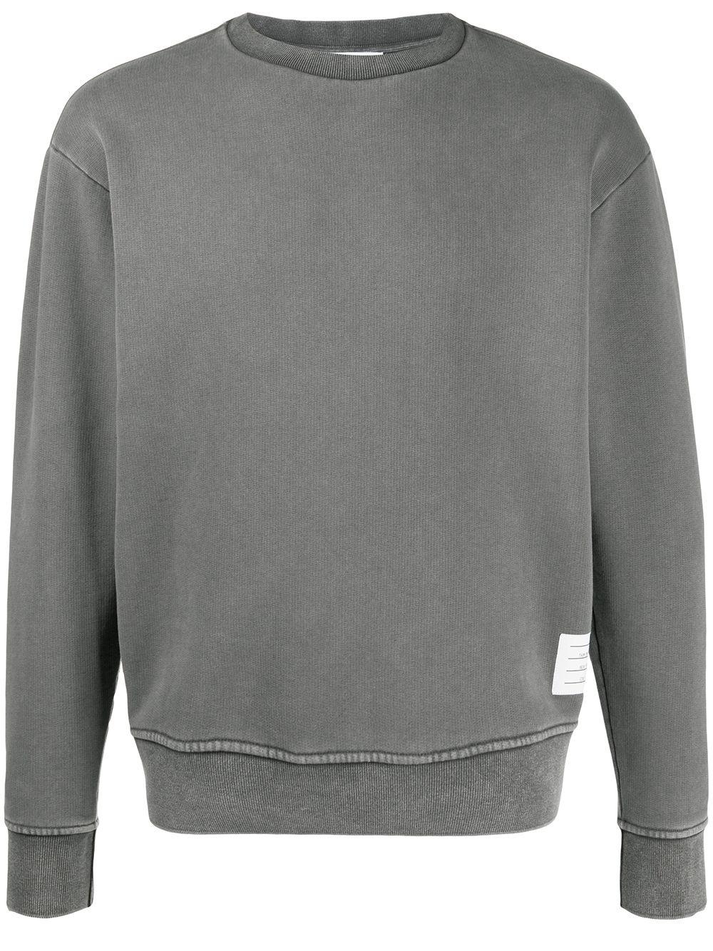 Thom Browne Sweatshirt mit Logo-Patch - Grau