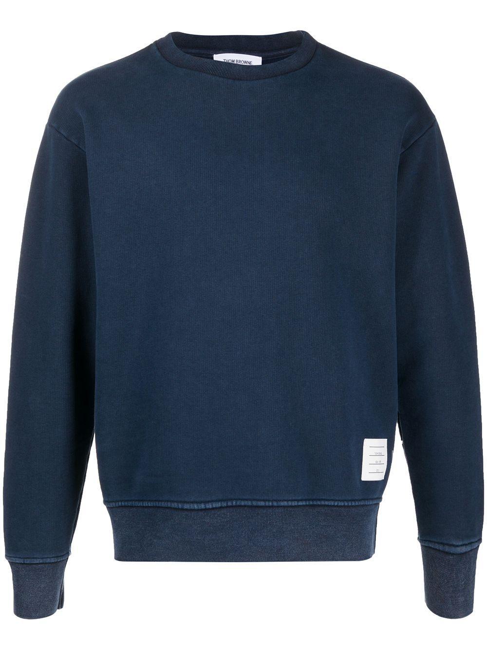 Thom Browne Sweatshirt mit Rundhalsausschnitt - Blau