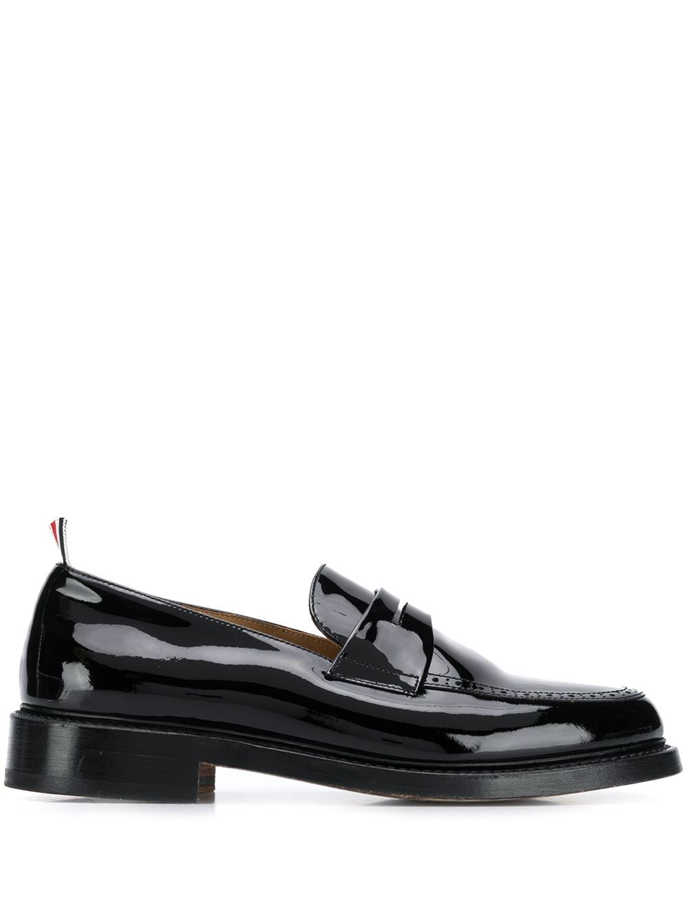 Thom Browne patent penny loafers - Schwarz
