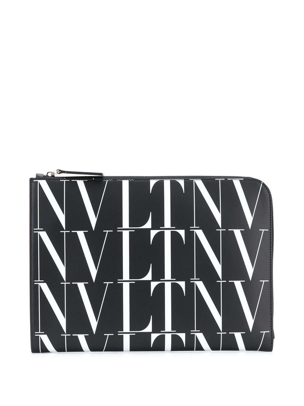 Valentino Garavani Clutch mit Logo-Print - Schwarz