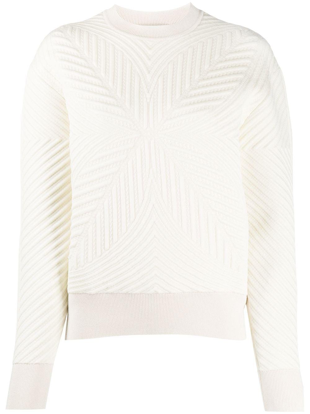 Alexander McQueen Gemusterter Pullover - Weiß