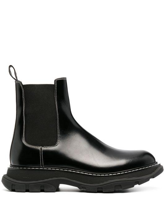 Alexander McQueen 'Tread' Chelsea-Boots - Schwarz