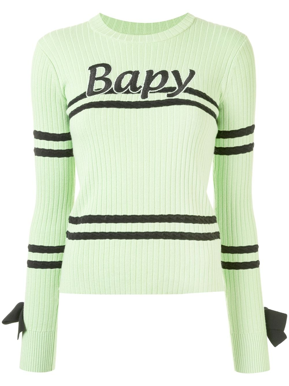 BAPY BY *A BATHING APE® bow detail ribbed knit sweater - Grün