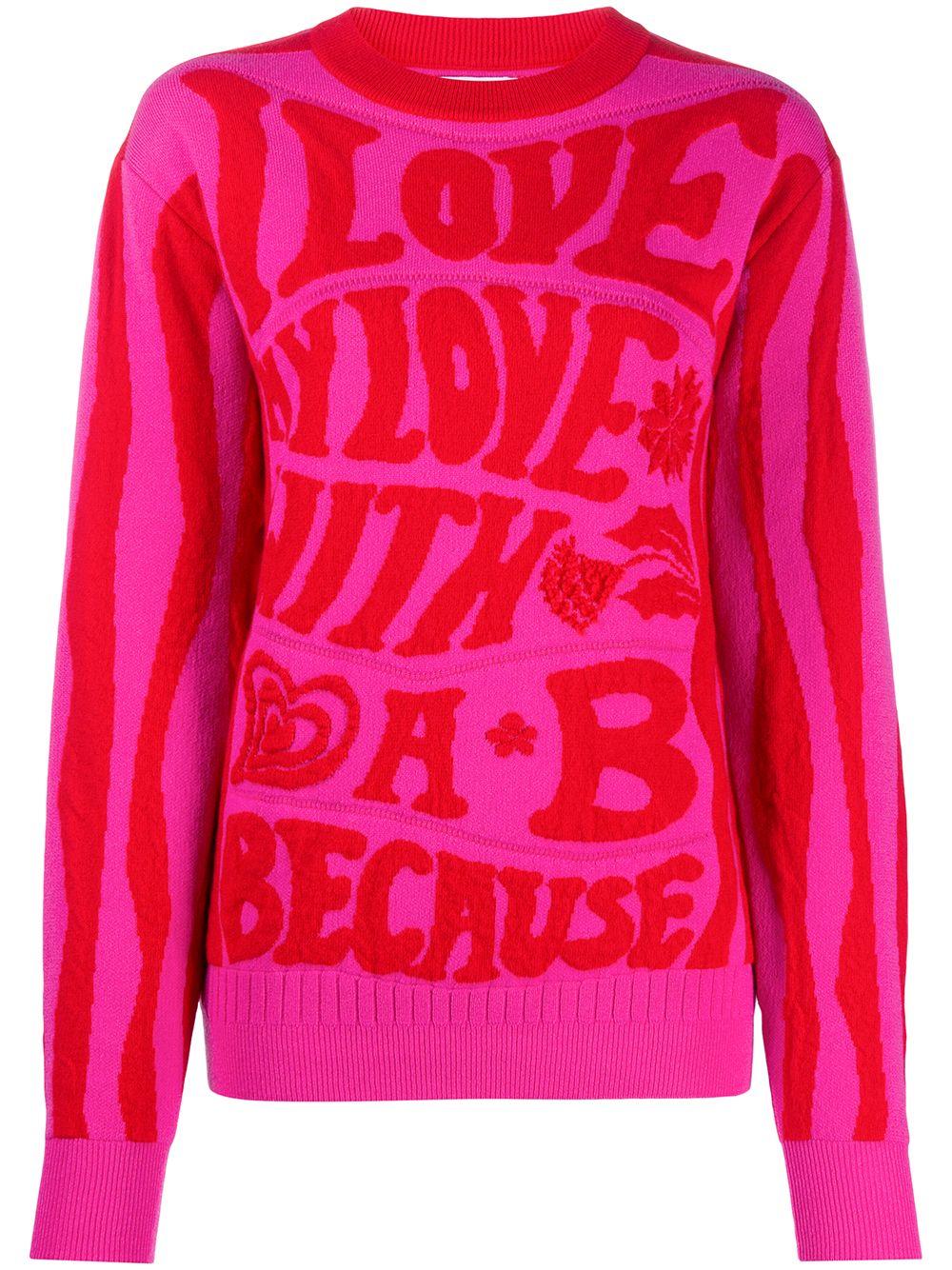Barrie 'Love Wonderland' Pullover mit rundem Ausschnitt - Rot