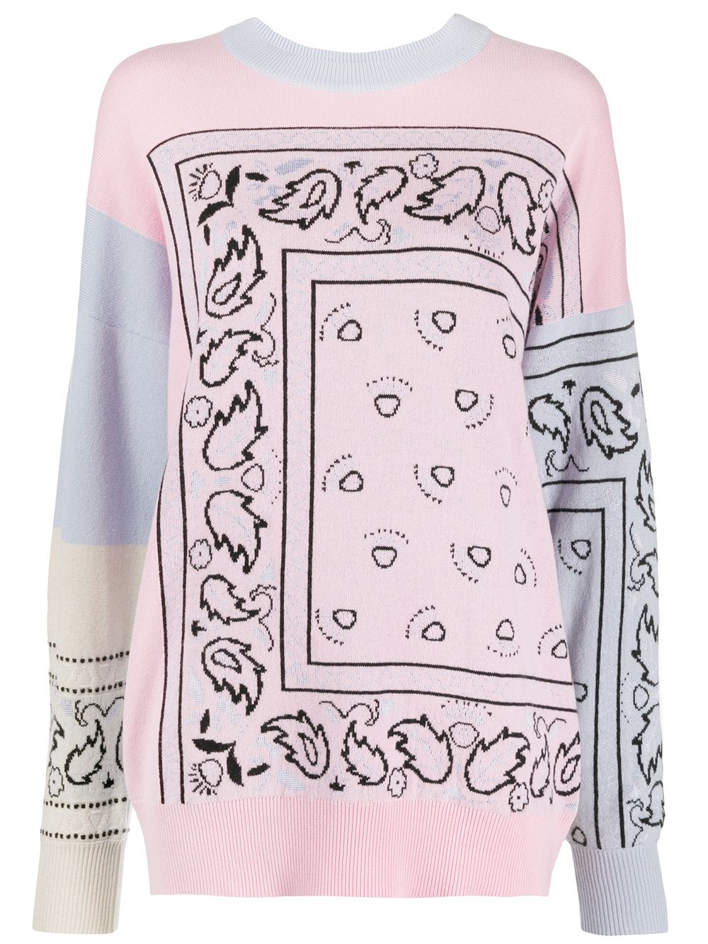 Barrie Pullover mit Bandana-Muster - Rosa
