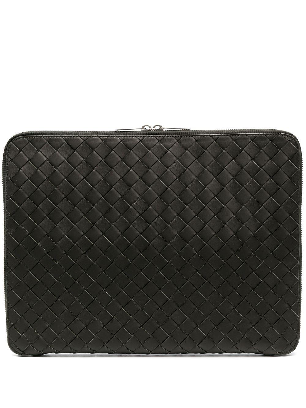 Bottega Veneta Intrecciato laptop clutch bag - Grün
