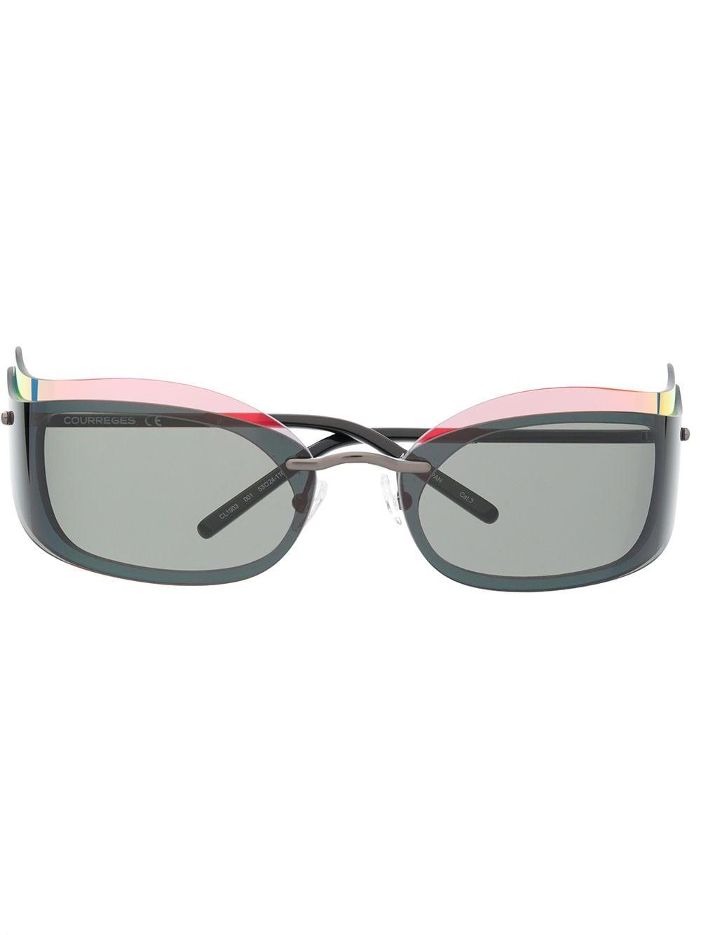 Courrèges Eyewear Sonnenbrille im Layering-Look - Schwarz