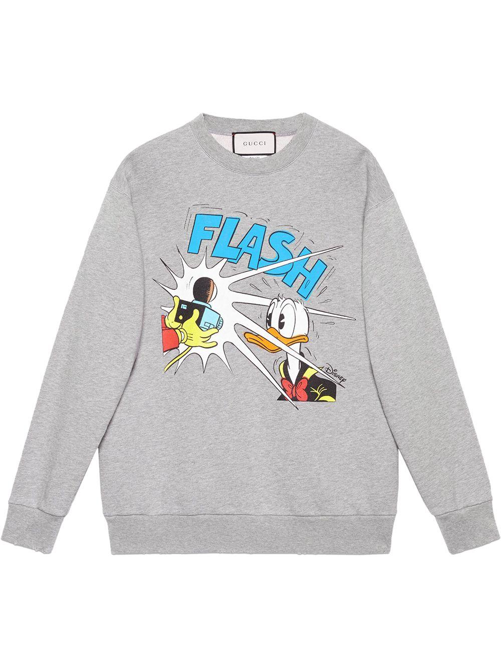 Gucci x Disney 'Donald Duck' Sweatshirt - Grau