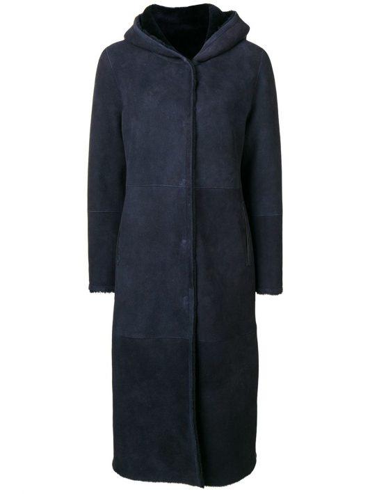 Liska Mantel mit Shearling - Blau