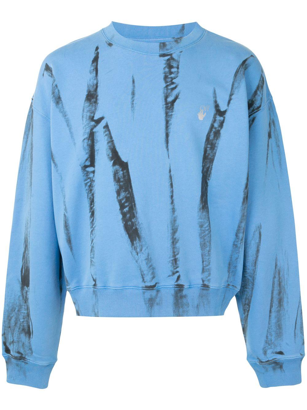 Off-White reflective Arrows tie-dye sweatshirt - Blau