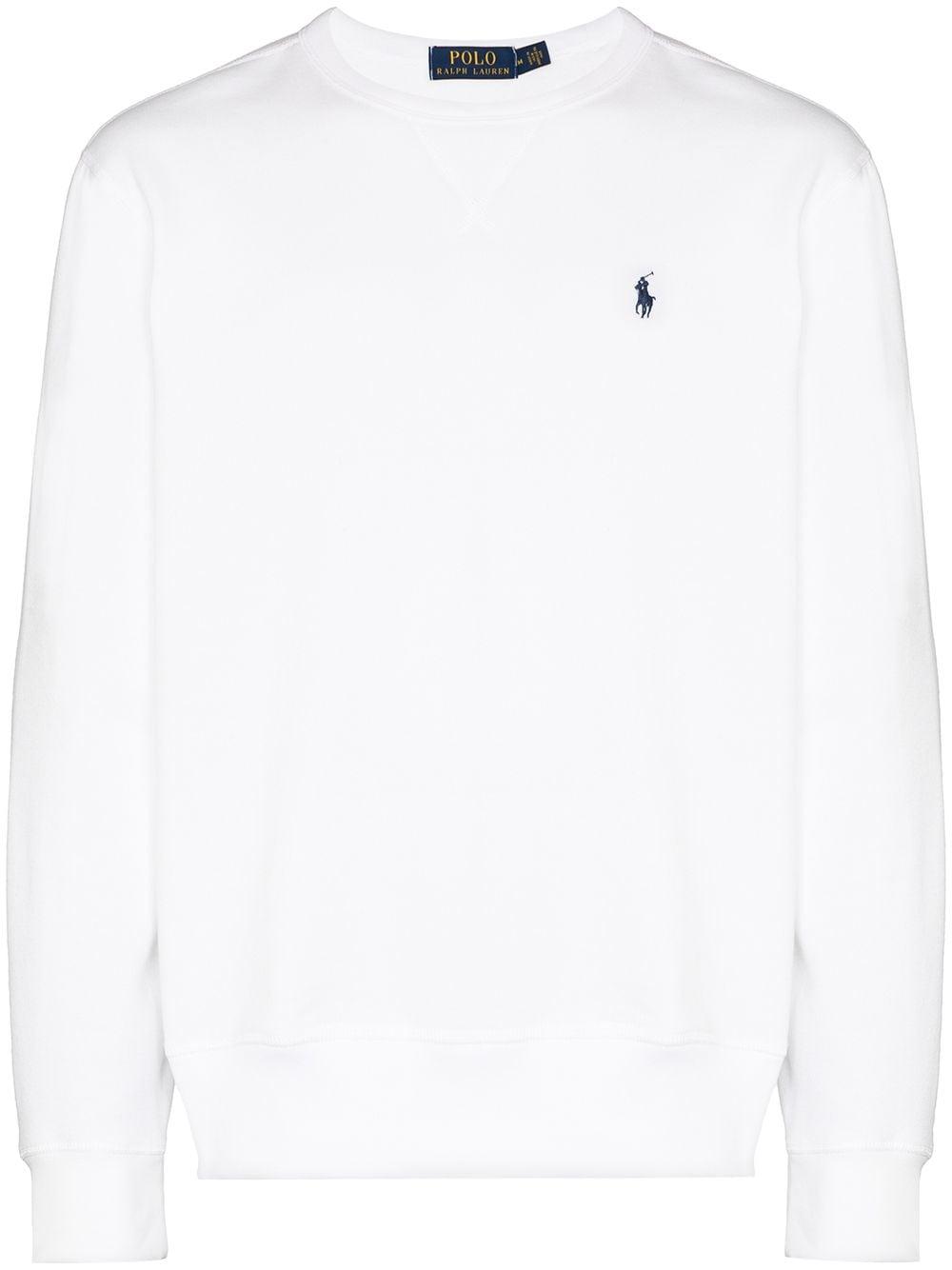 Polo Ralph Lauren Sweatshirt mit Logo-Stickerei - Weiß
