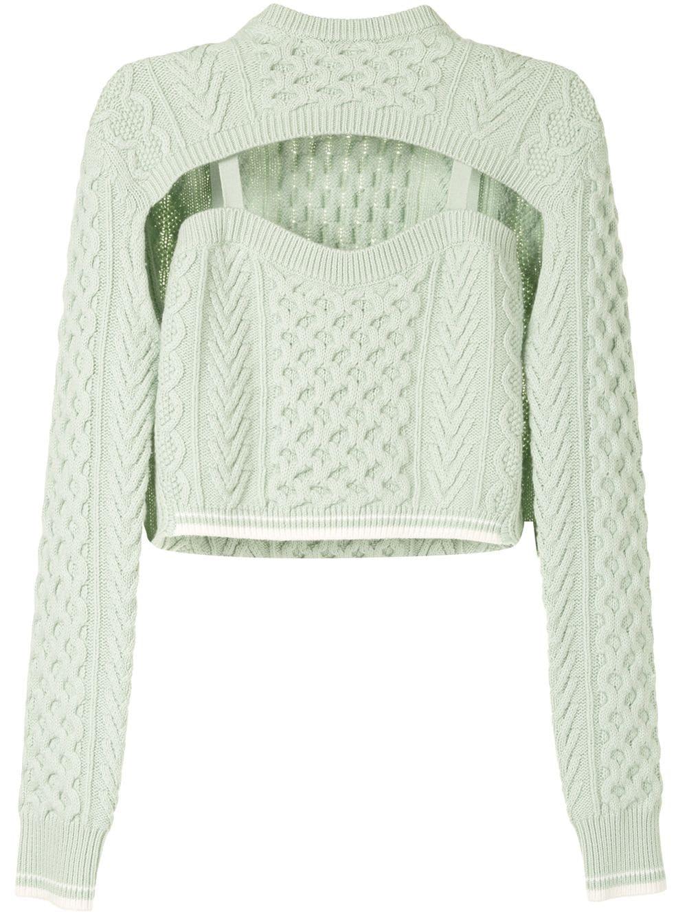 Rosie Assoulin Pullover mit Cut-Outs - Grün