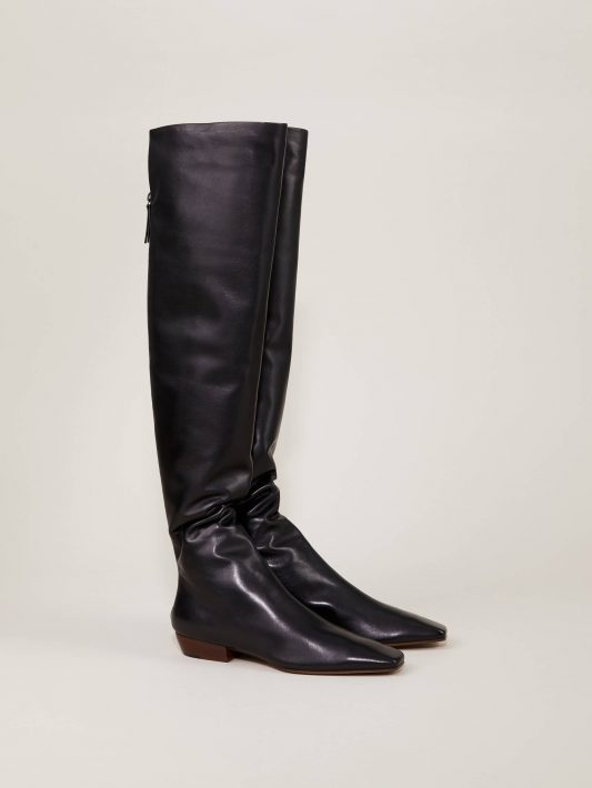 The Row - Stiefel 'Slouchy Boot' Schwarz
