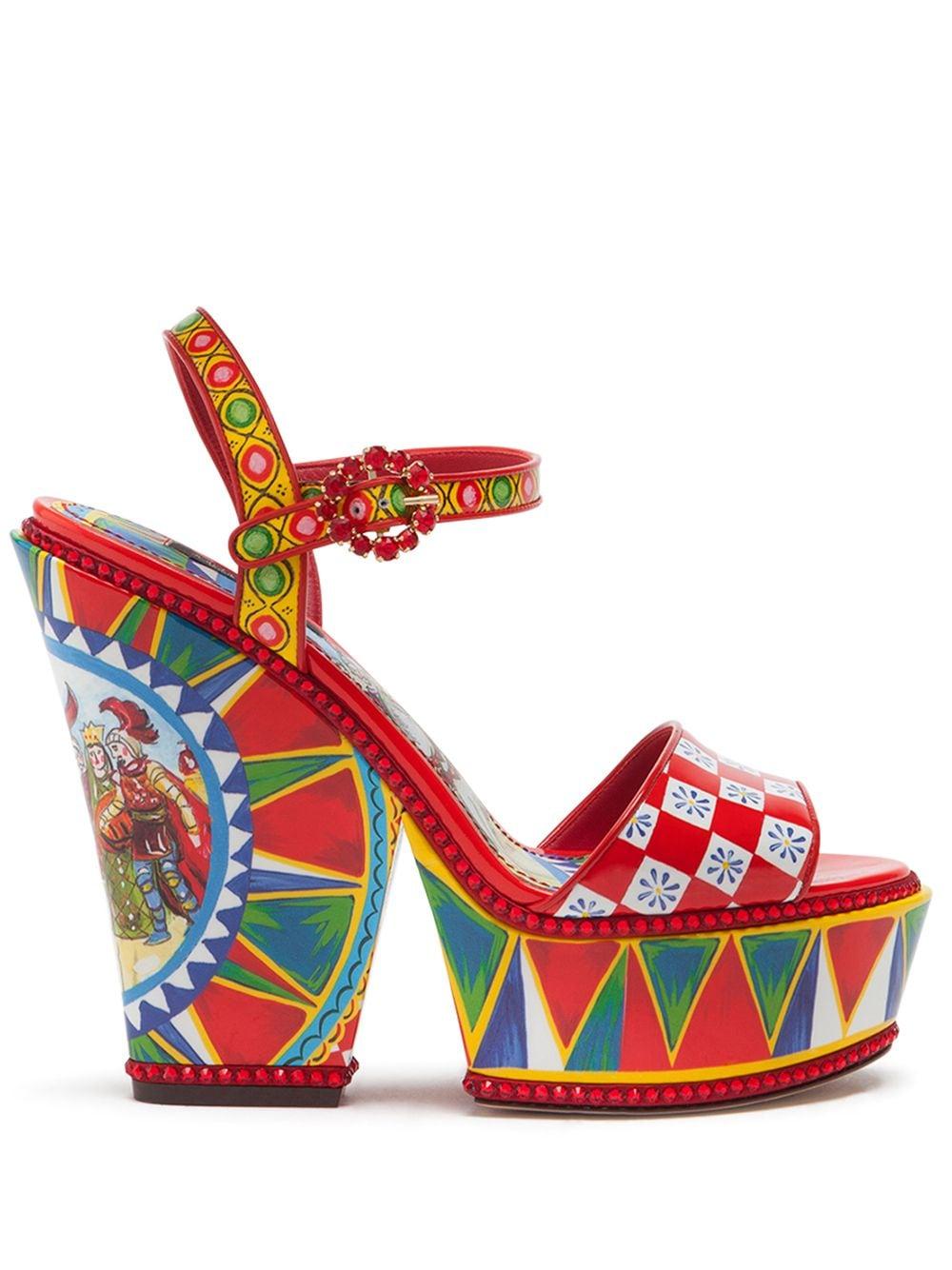 Dolce & Gabbana 'Bianca' Sandalen - Rot