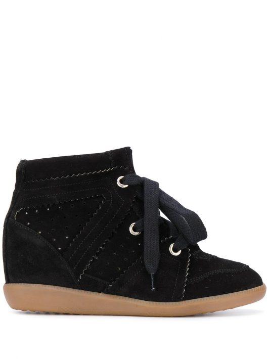 Isabel Marant 'Bobby' Sneakers mit Keilabsatz - Schwarz