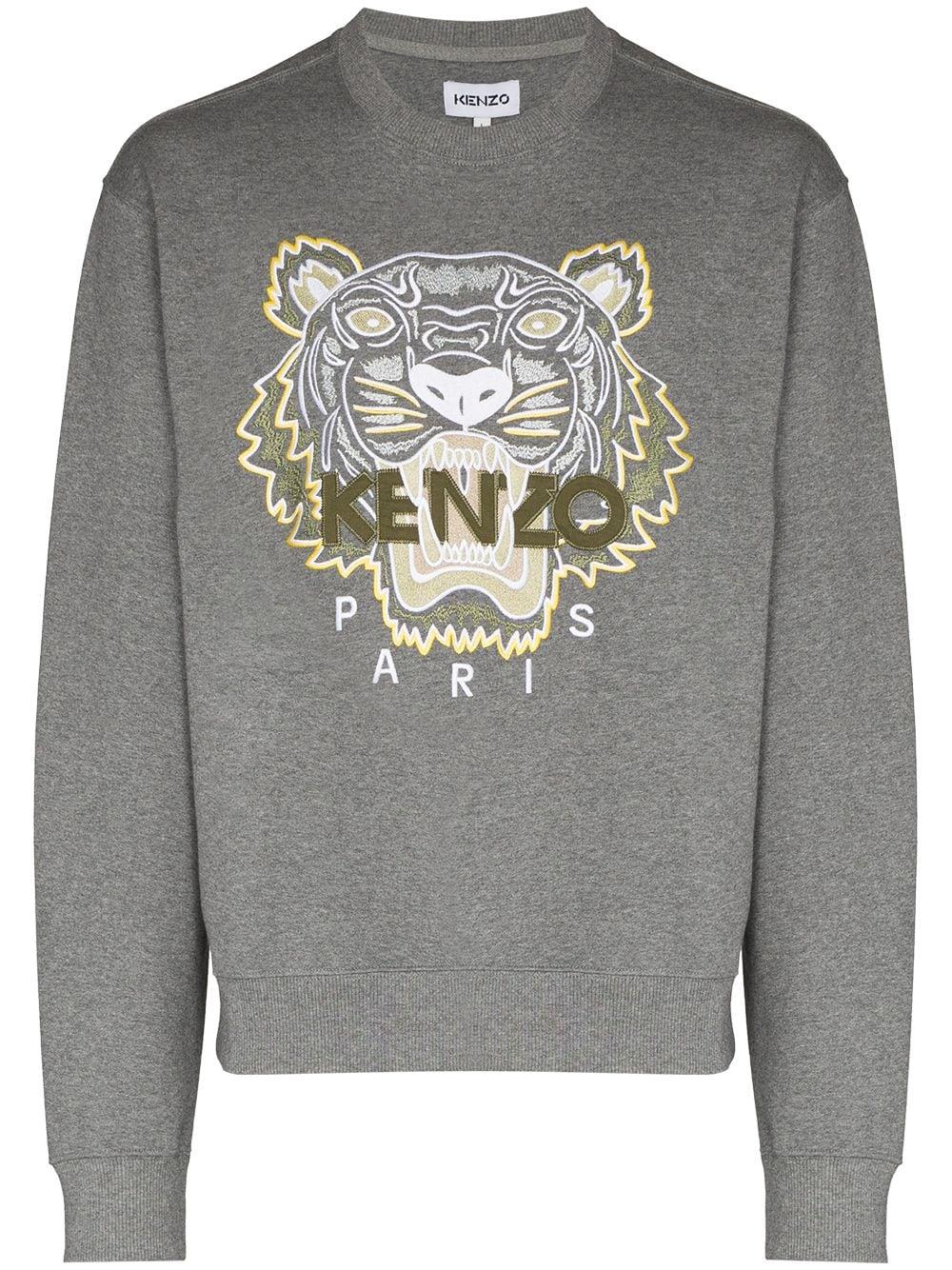 Kenzo Sweatshirt mit Tiger-Logo - Grau