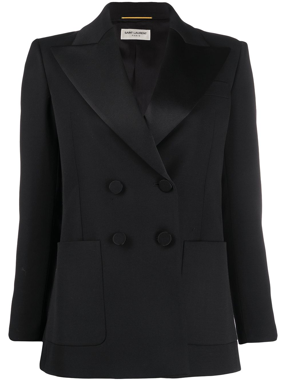 Saint Laurent Doppelreihiger Smoking-Blazer - Schwarz
