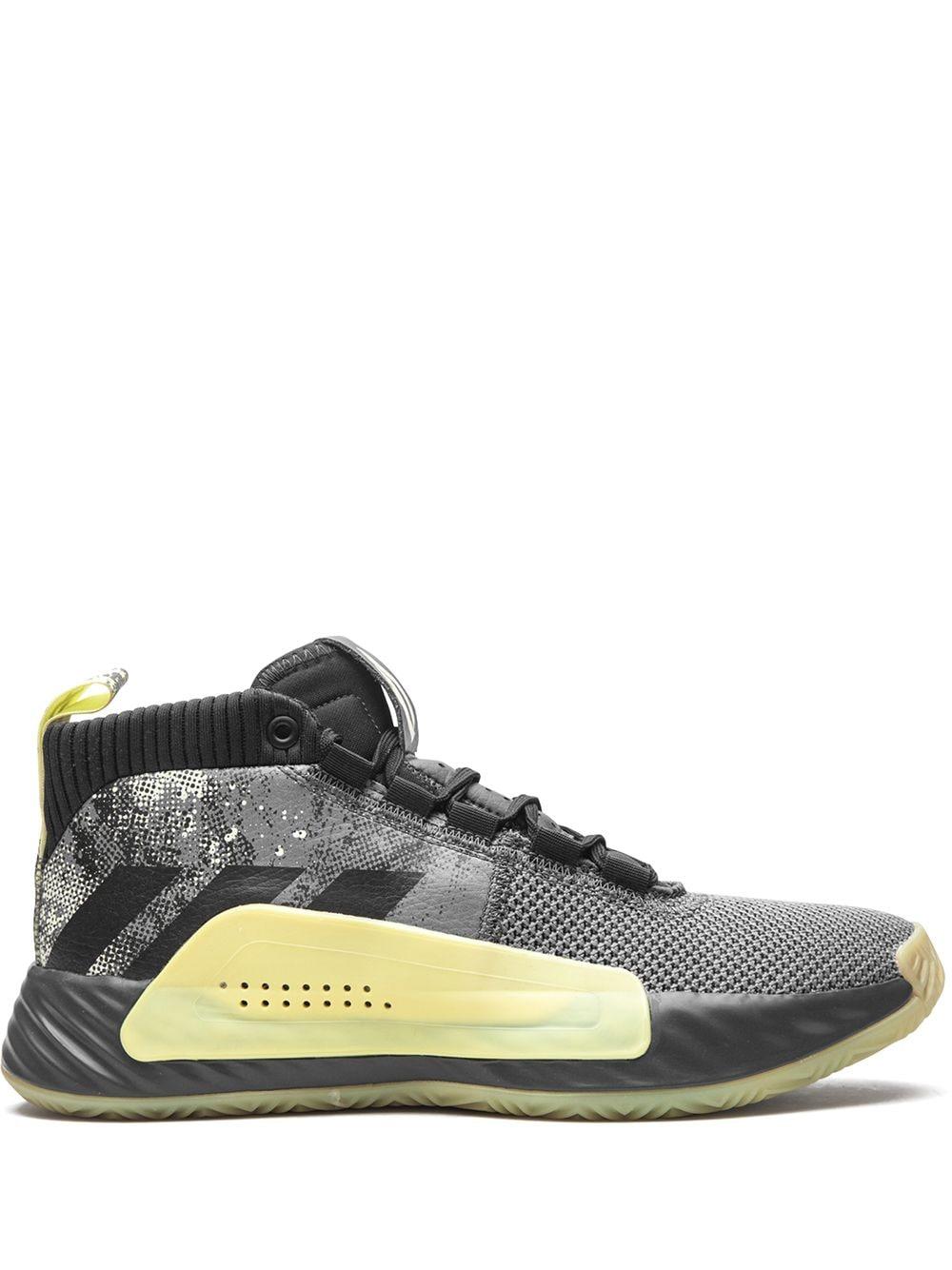 adidas Dame 5 High-Top-Sneakers - Grau