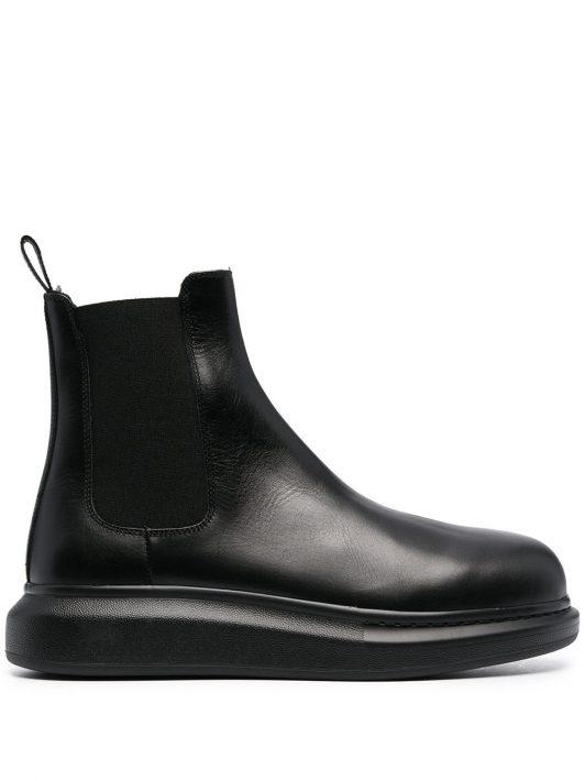 Alexander McQueen Chelsea-Boots im Hybrid-Design - Schwarz