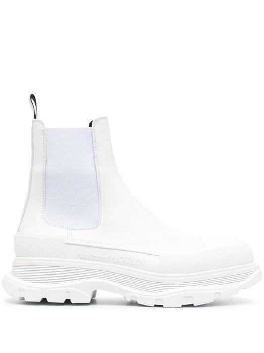 Alexander McQueen Chelsea-Boots mit dicker Sohle - Weiß