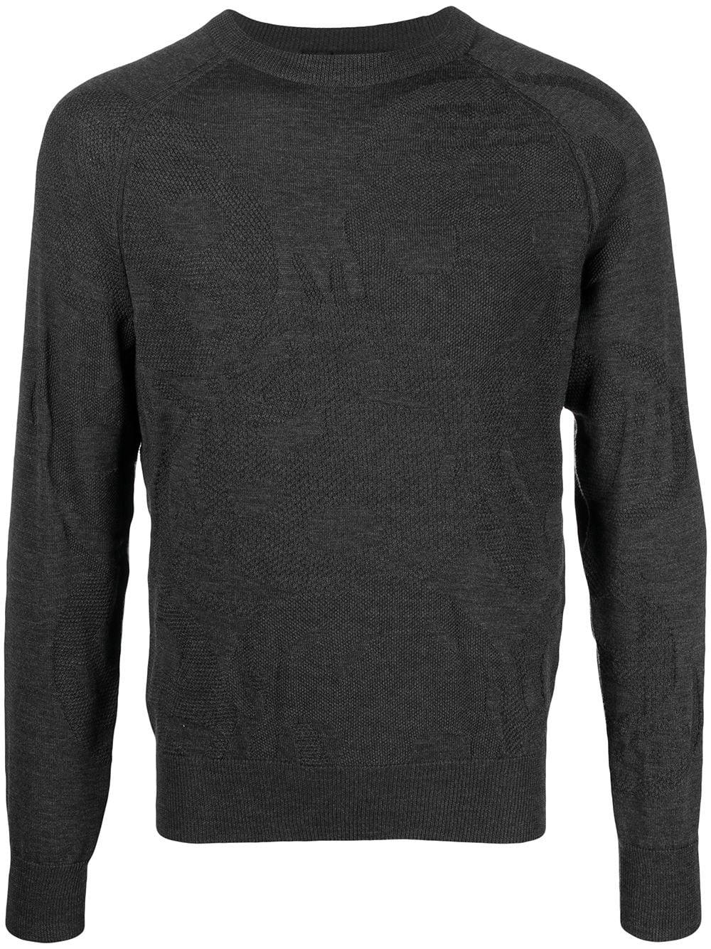 Alexander McQueen Sweatshirt mit grafischem Design - Grau