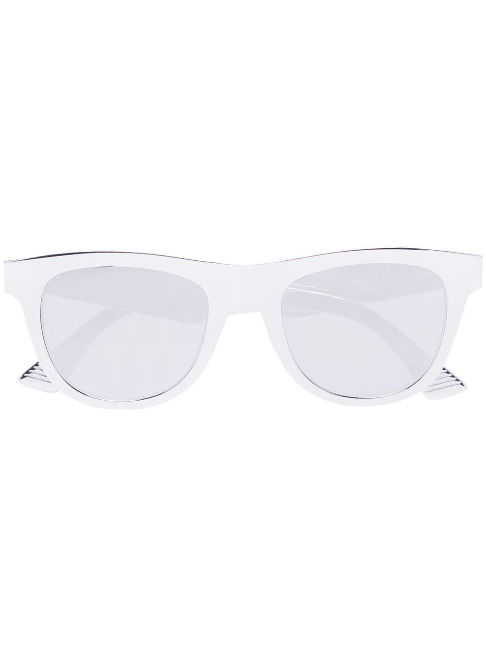 Bottega Veneta Eyewear Verspiegelte Sonnenbrille - Silber