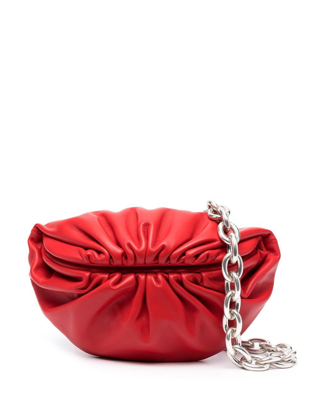 Bottega Veneta The Belt Chain Pouch Clutch - Rot