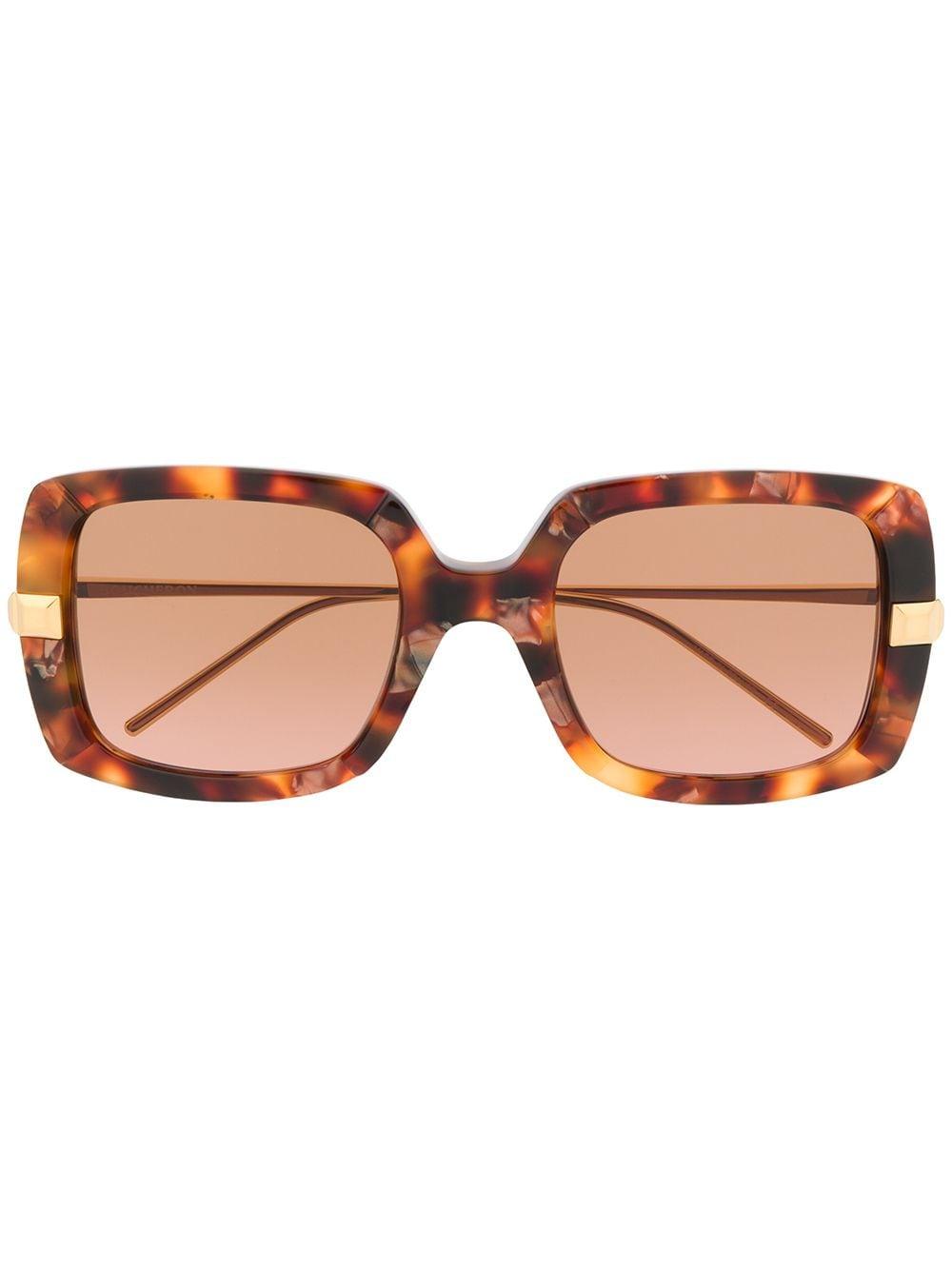 Boucheron Eyewear Sonnenbrille in Schildpattoptik - Braun
