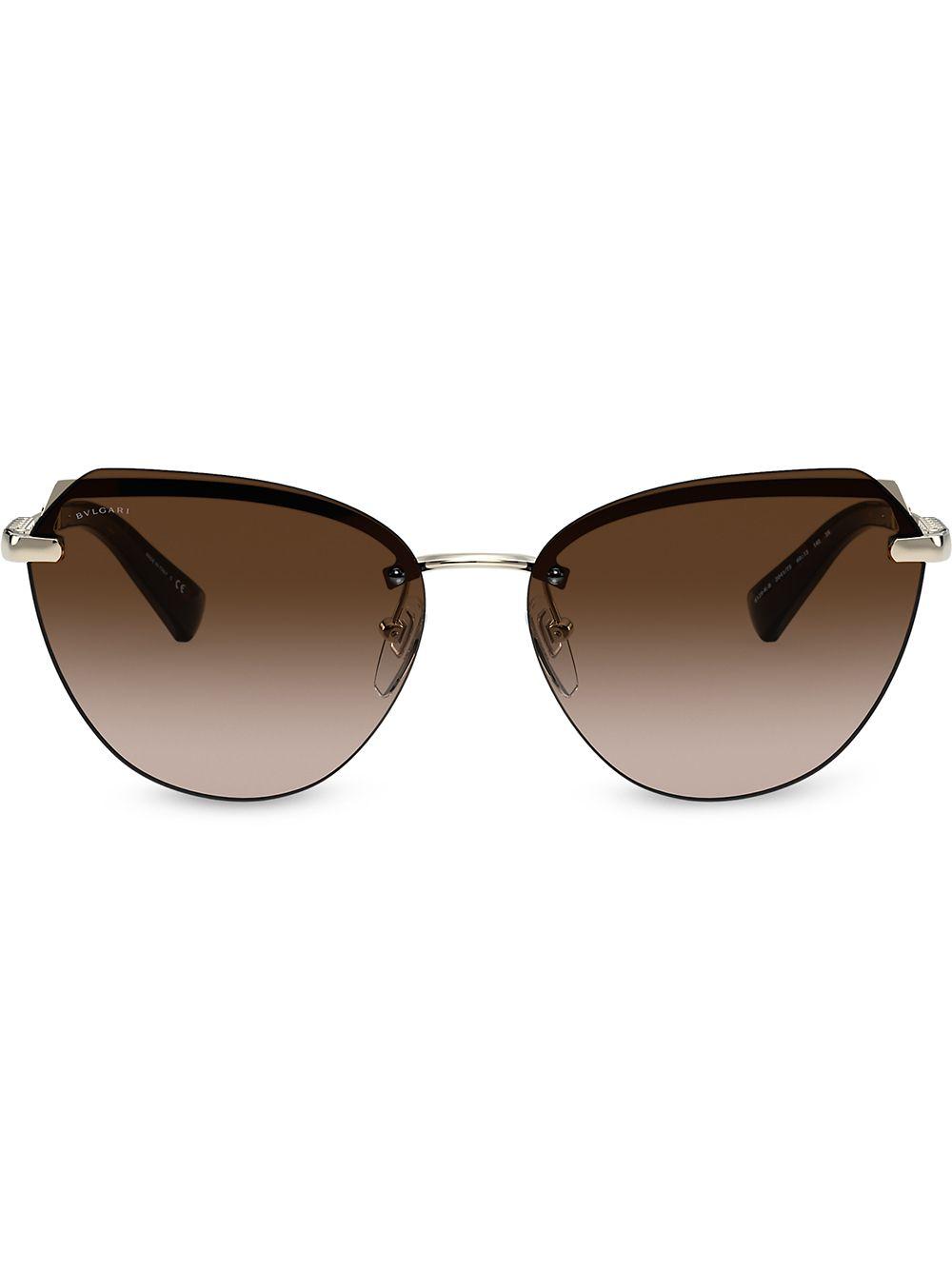 Bvlgari Cat-Eye-Sonnenbrille - Gold
