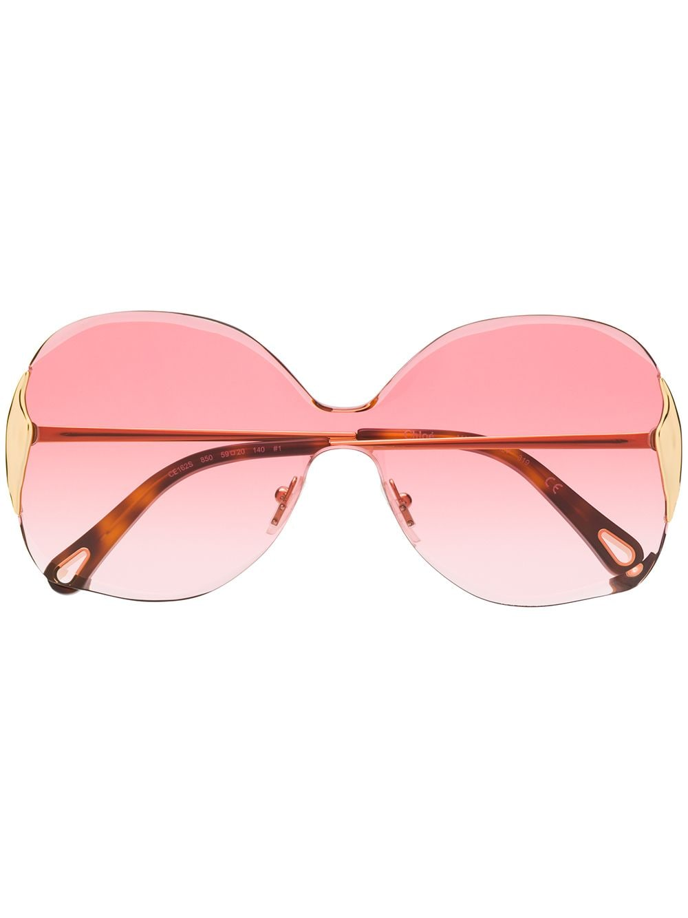 Chloé 'Curtis' Oversized-Sonnenbrille - Braun