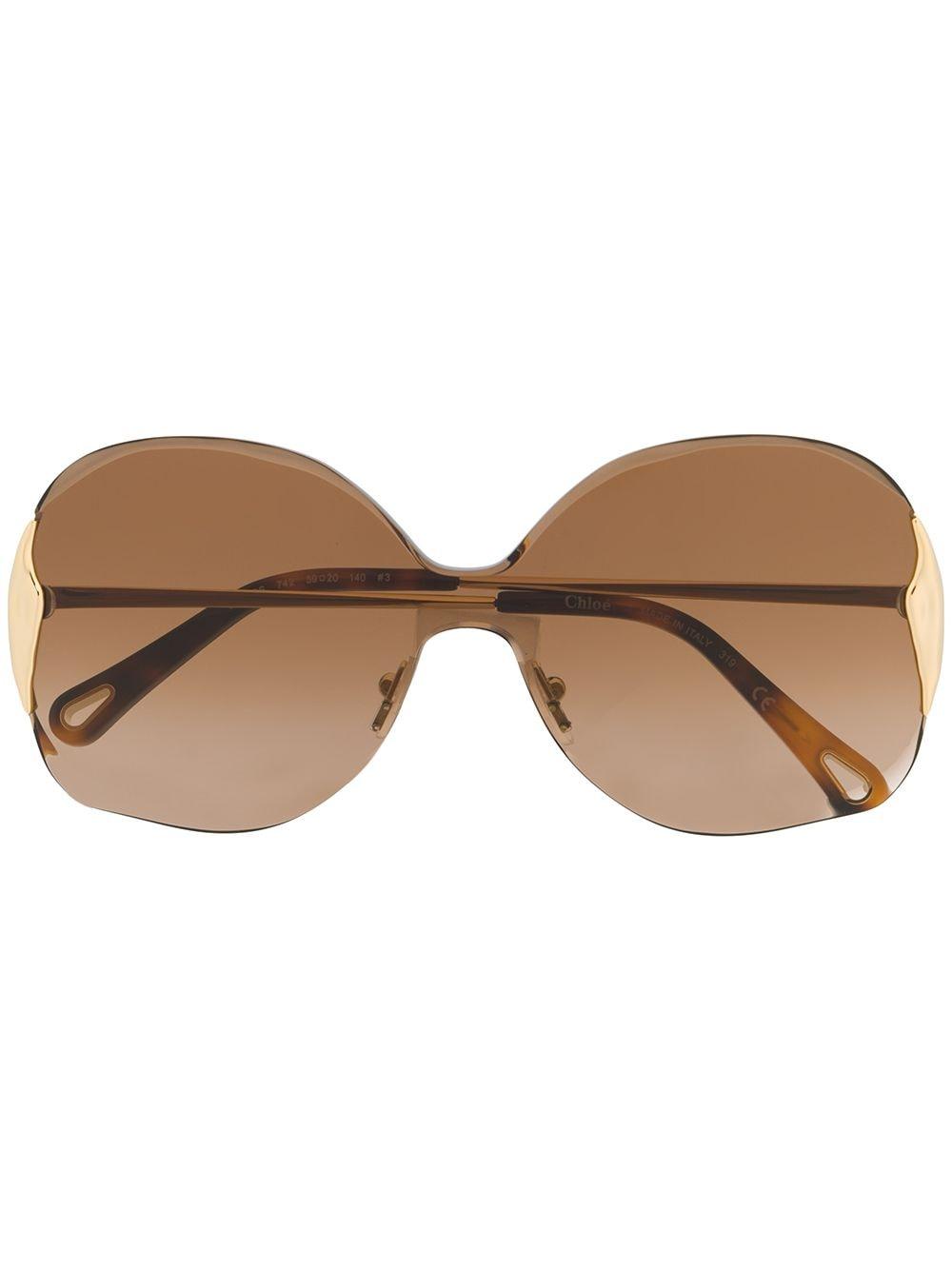 Chloé 'Curtis' Oversized-Sonnenbrille - Gold