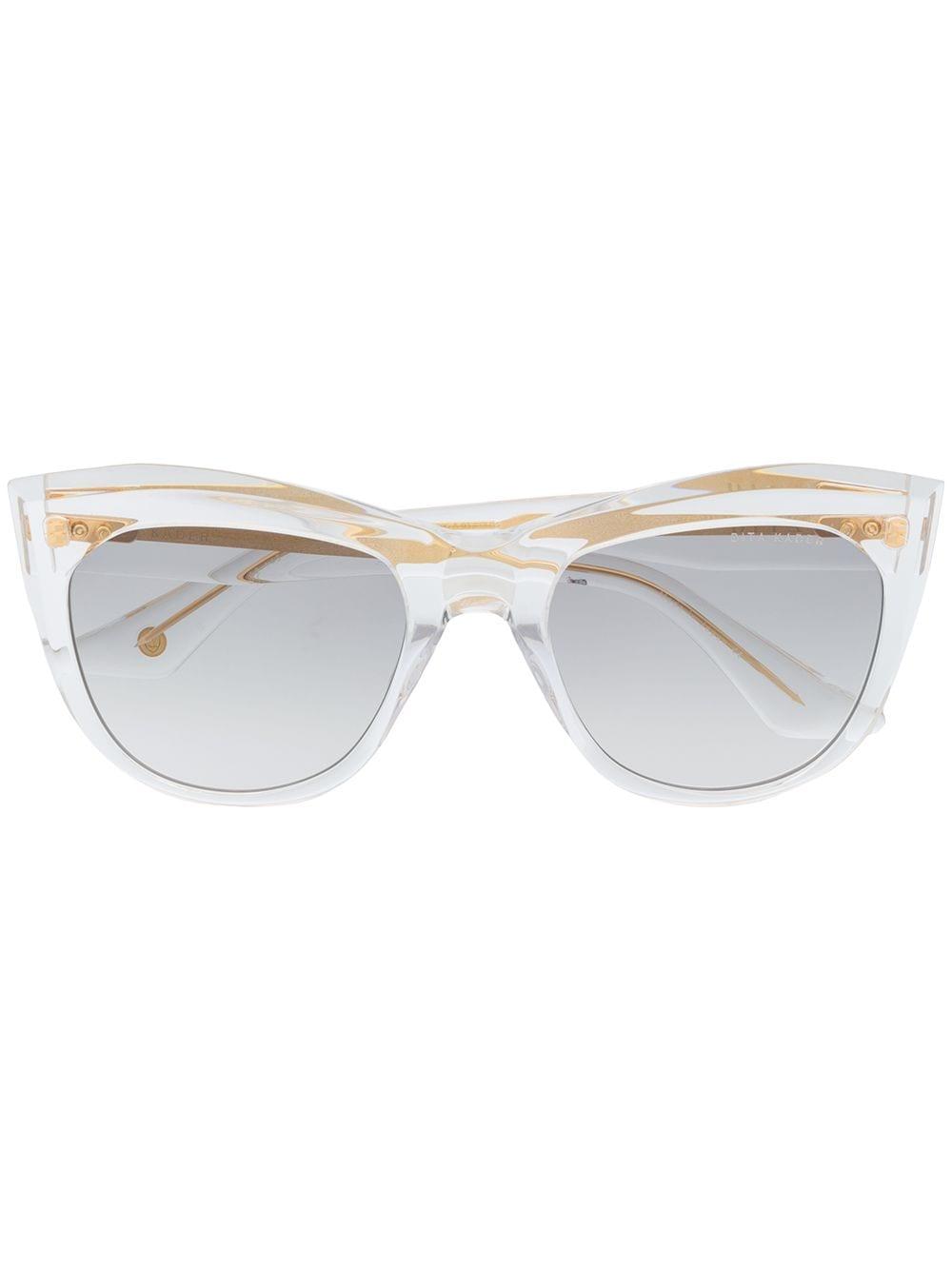 Dita Eyewear Eckige 'Kader' Sonnenbrille - Nude