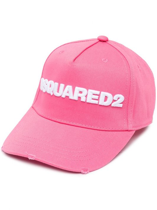 Dsquared2 Embroidered Cargo Baseball Caps - Rosa