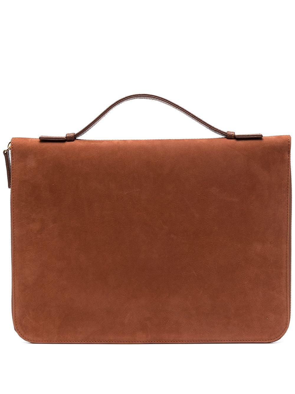 Eleventy Laptoptasche aus Hirschleder - Braun