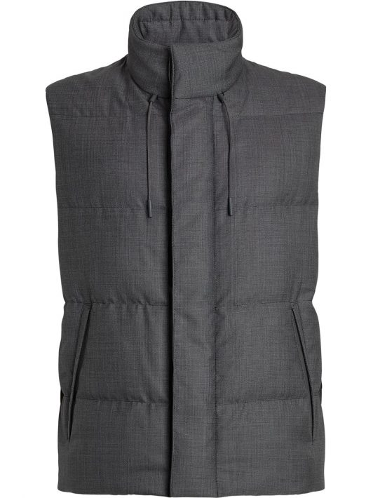 Ermenegildo Zegna padded high-neck vest - Grau
