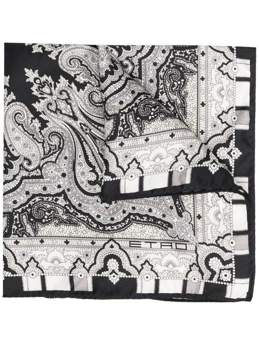 Etro Einstecktuch aus Seide - Schwarz