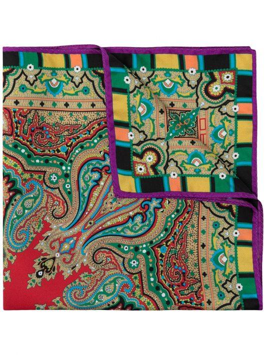 Etro Einstecktuch mit Paisley-Print - Rot